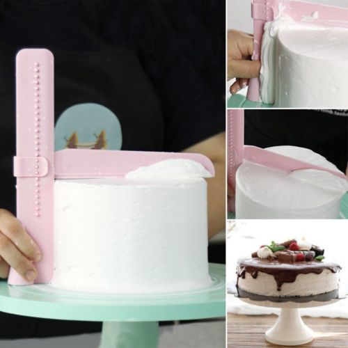 Practical Adjustable Cake Scraper Edge Side