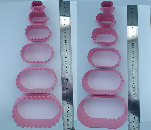 Plastic cuter double function Oval x 6