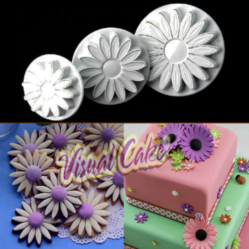 Plastic Cuter and stamper Sunflower 3 pcs