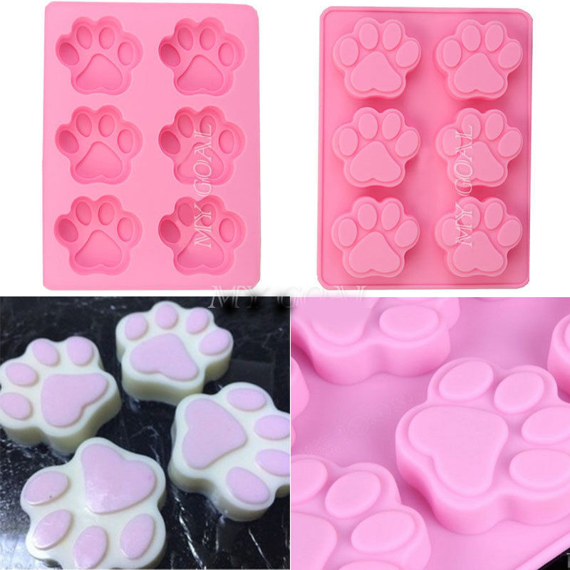 Silicone Mold Dog Cat Paw Print