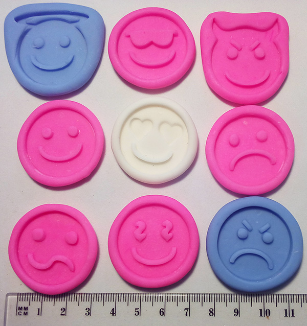 Silicone Mould Emoticones x 9