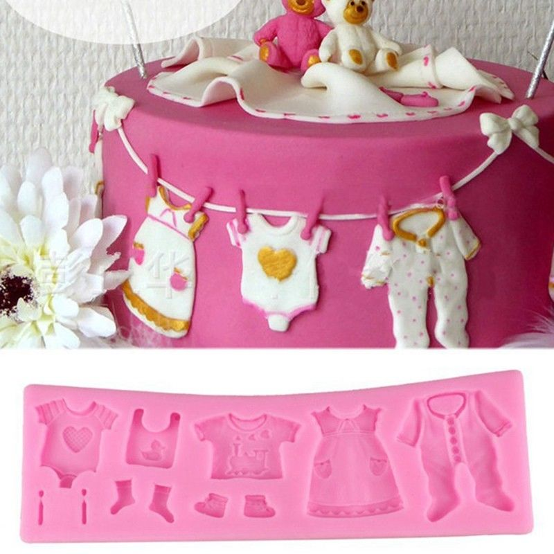 Baby Clothes Shower DIY Silicone