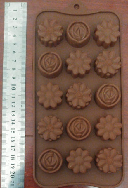 Silicone Molds flowers x 15