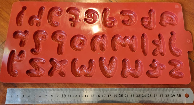 silicone mold savages letters